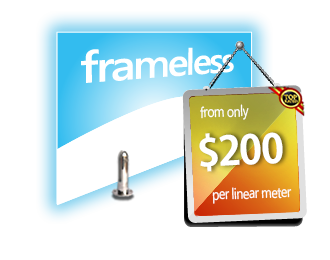 full price list for frameless fencing