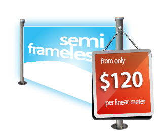 Full price list for semi frameless
